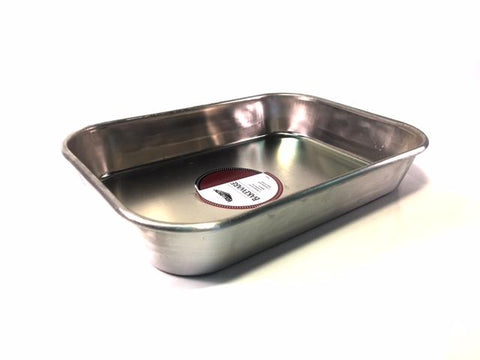 "13 3/4 x 9 3/4 x 2 1/4"" Leightweight Aluminum Pan Without Handles"