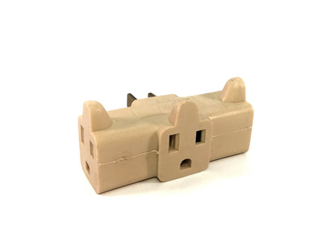 3-Receptacle Adaptor Cube Outlet