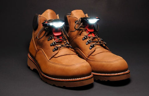 Work Boot Safety Lights - Ideal For Nightwork - Avoid Trip & Fall