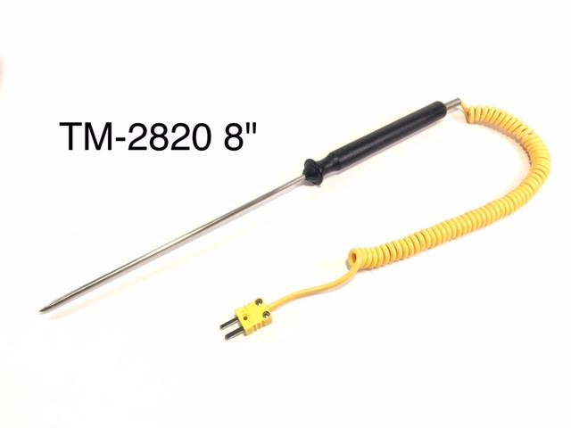 "Type K Thermocouple with Handle - Available in 5"" or 8"" Probe Lengths"