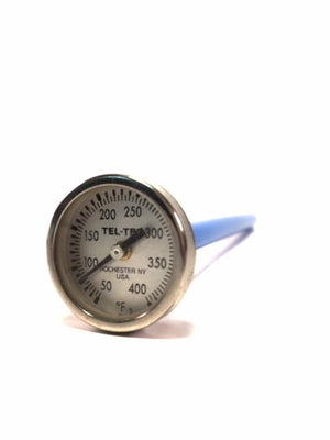 "50° - 400°F, 1"" Dial, 5"" Stem Pocket Thermometer - Rainhart"