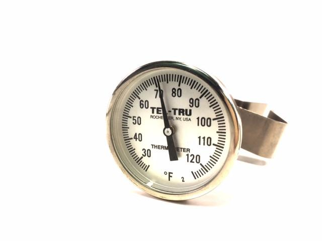 "Concrete Dial Thermometer, 25° - 125°F - Available in 5"" or 8"" Stem Lengths - Rainhart"