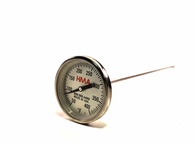 "12"" Dial Stem Thermometer, 50-400°F (°F) - Rainhart"