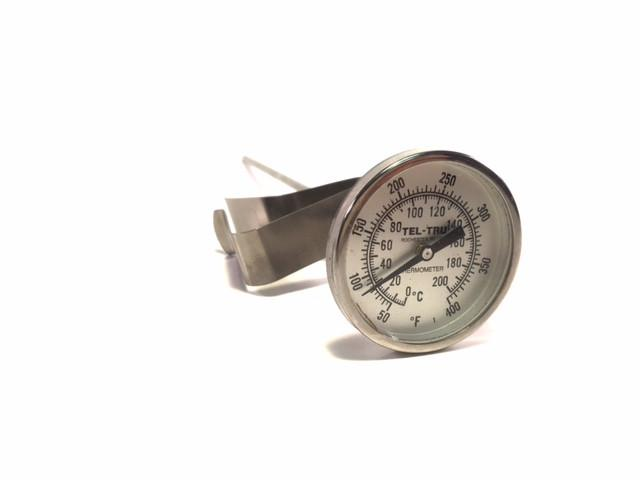 "8"" Dial Stem Thermometer, 50-400°F / 0-200°C"