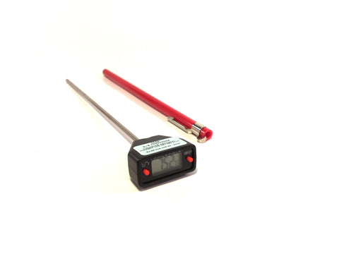 "8"" Long-Stem Digital Truck Thermometer, 280°C x 0.1°C"