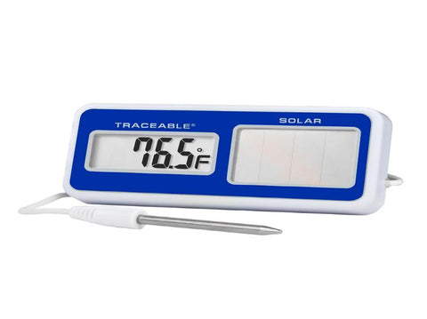 Solar-Powered Digital Thermometer with NIST Traceable Certificate