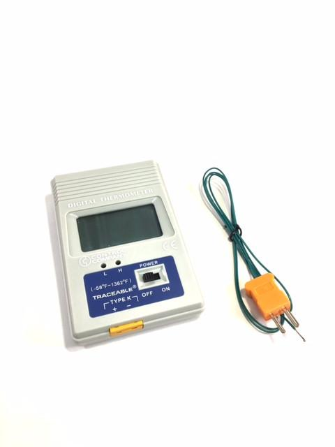 K-Type Pocket-Size °F Thermometer, Traceable - Rainhart