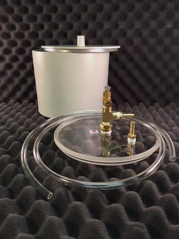 "2000-Gram Capacity Pycnometer, 6"" Deep with Acrylic Lid and Metal Calibration Lid"