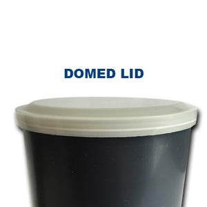 "4"" Concrete Cylinder Molds (Case of 36) - Available with flat or domed lid - Rainhart"