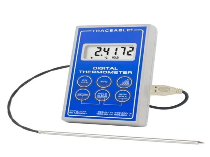 Traceable® Platinum Ultra-Accurate Digital Thermometer with Stainless Steel Probe - Rainhart