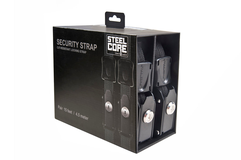 Security Strap 15' Black, Pair