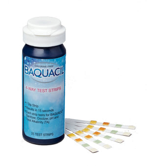 Baquacil 4-Way Test Strips (March 2020 Preorder)