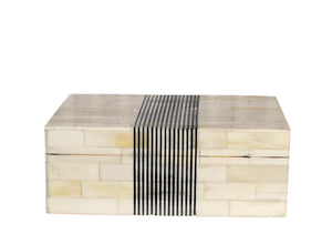 Black Stripe Bone Box