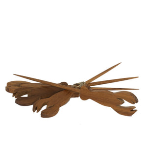 Teak Lobster Picks, Set of 4