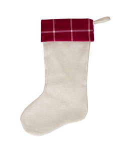 Pink Plaid Stocking