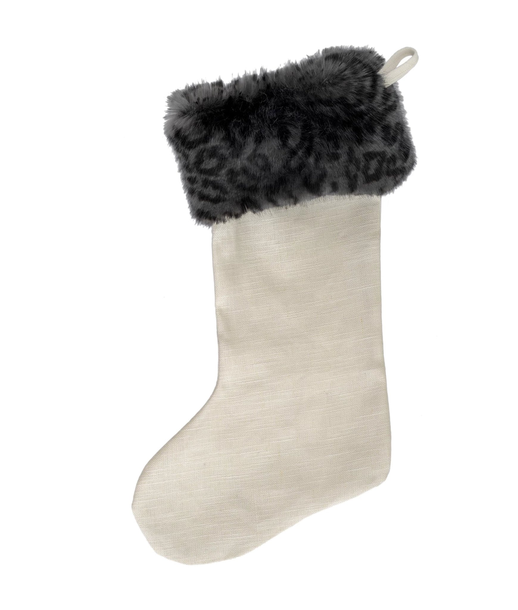 Snow Leopard Glam Stocking