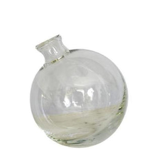 Clear Sphere Bud Vase