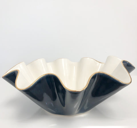 Susan Gordon Ruffle Bowl Midnight