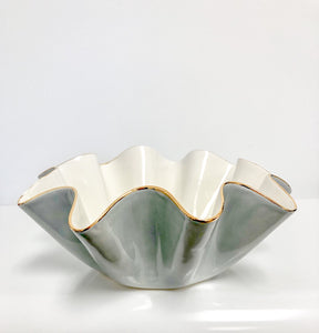 Susan Gordon Ruffle Bowl Light Grey