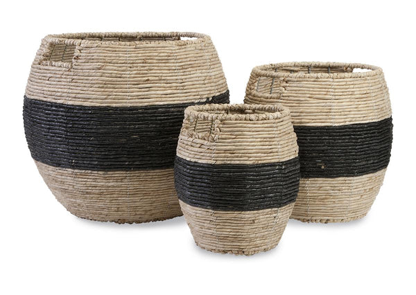 Black Band Woven Basket, Medium