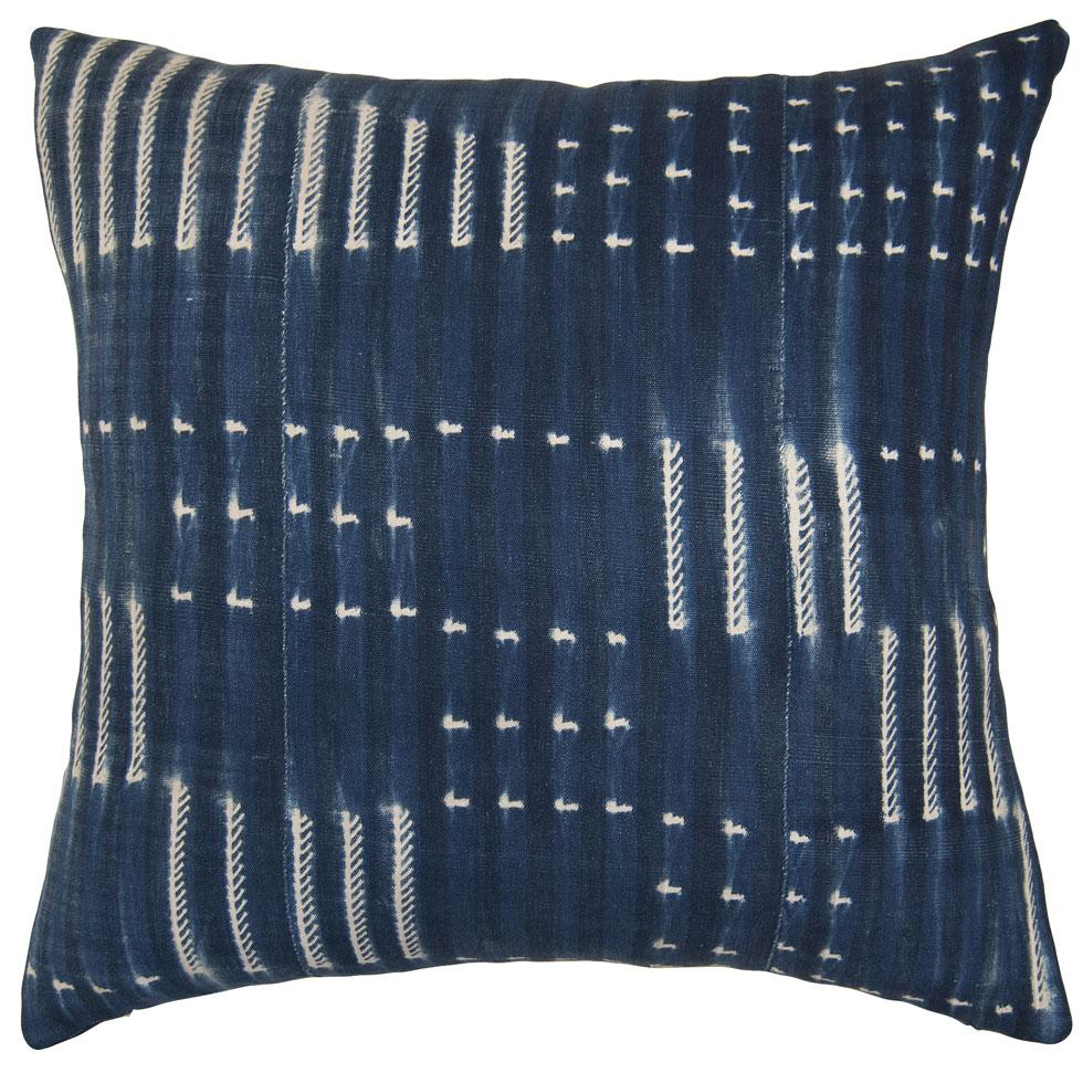 The Indigo Flag Pillow