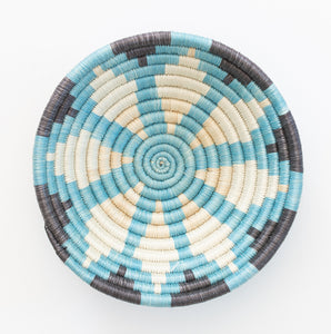 Sunburst Arctic Blue & Black Basket, Small