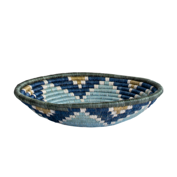 Sunburst Silver Blue Hope Bowl, Large