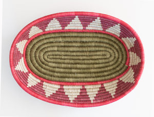 Poinsettia Oval Basket