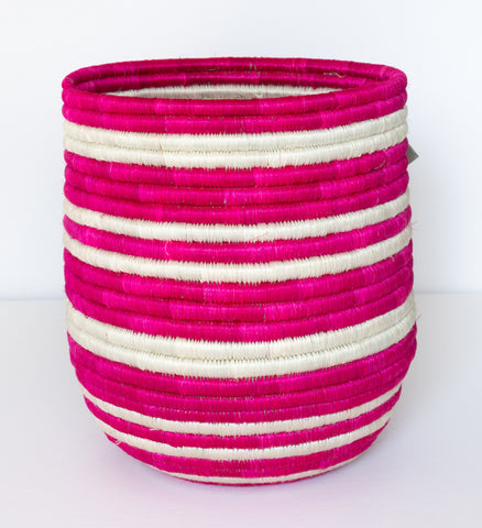 Vivid Viola Striped Dunia Vase