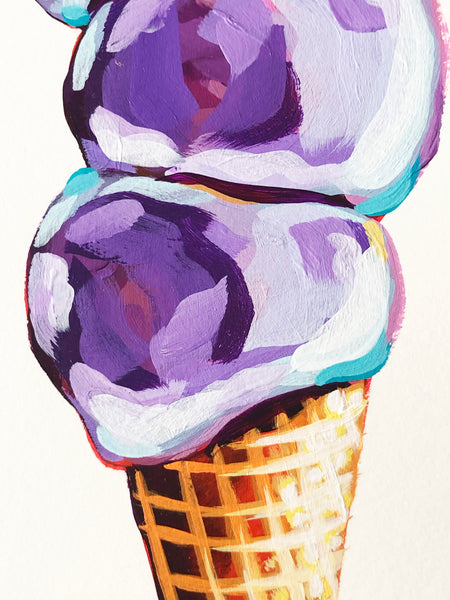 Three Scoop Ice Cream Cone