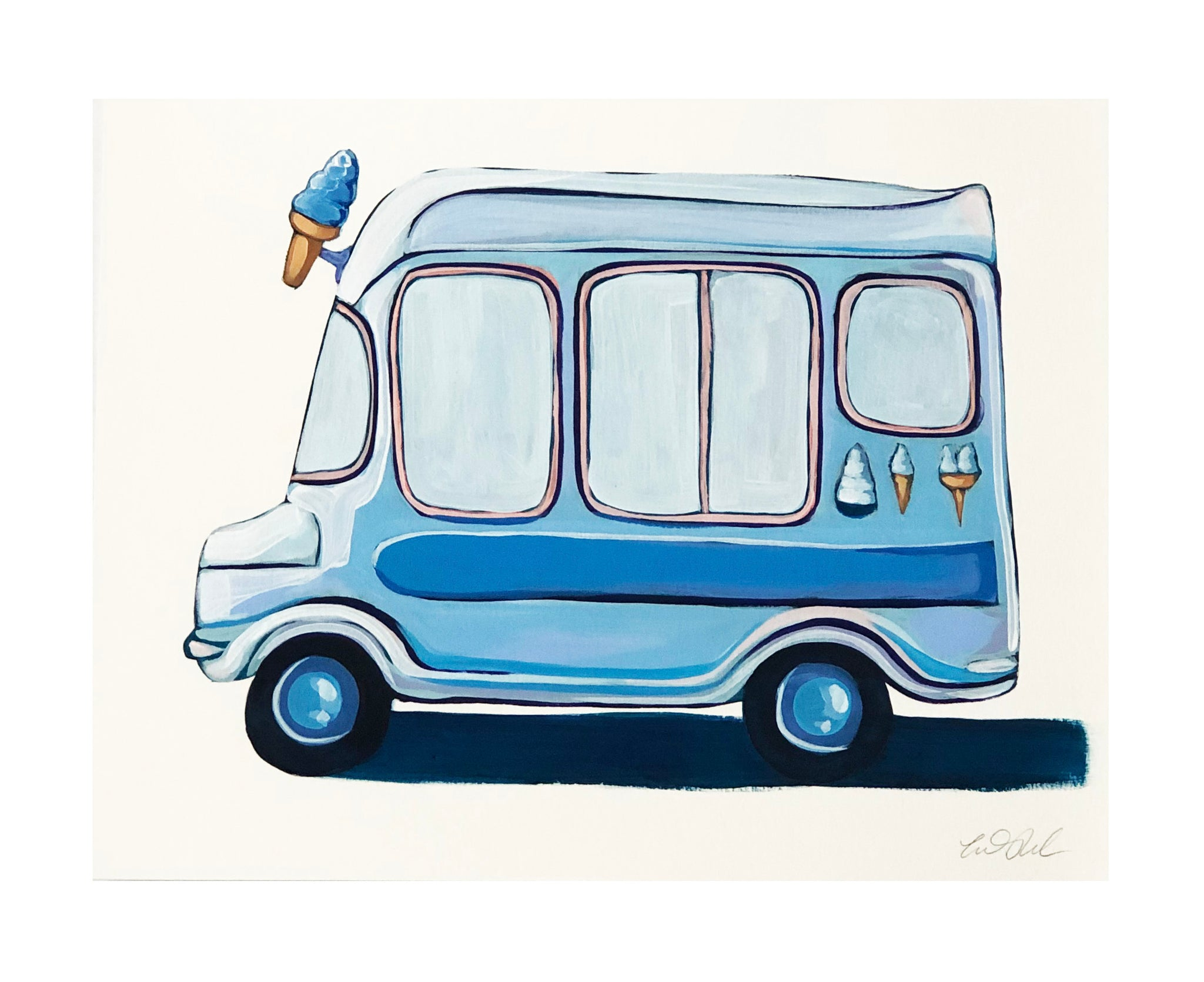 Blue Ice Cream Truck 1