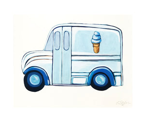 Blue Ice Cream Truck 2