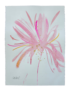 Watercolor abstract floral original art 11