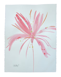 Watercolor abstract floral original art 12