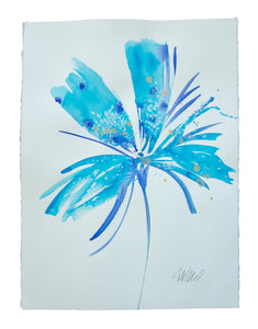 Watercolor abstract floral original art 14