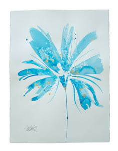 Watercolor abstract floral original art 15