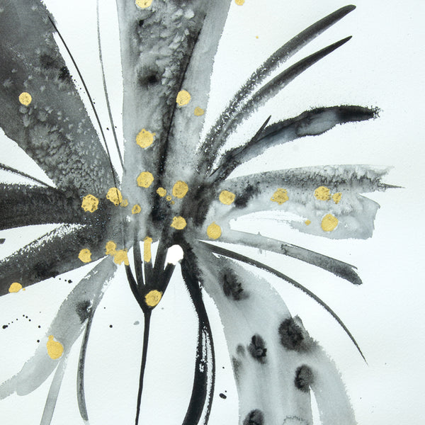 Watercolor abstract floral original art 20