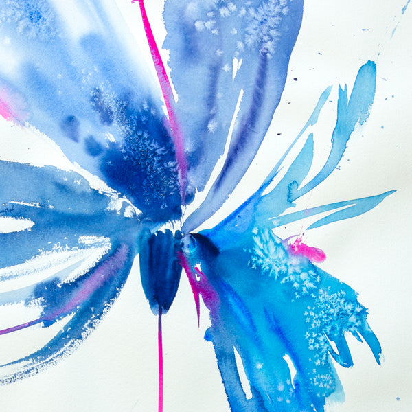 Watercolor abstract floral original art 27