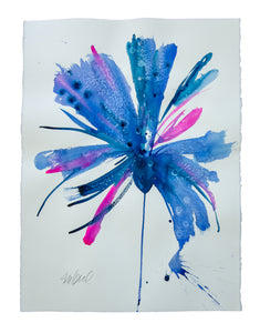 Watercolor abstract floral original art 28