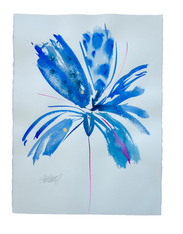 Watercolor abstract floral original art 3