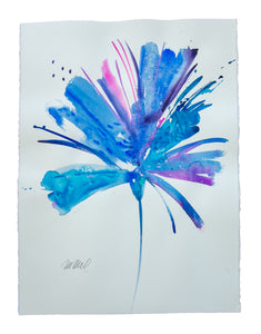 Watercolor abstract floral original art 31