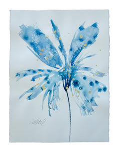 Watercolor abstract floral original art 4