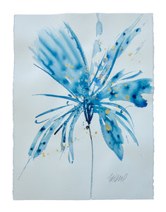 Watercolor abstract floral original art 5