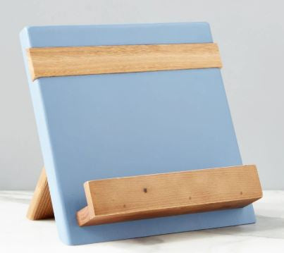 Color Block Cookbook/Tablet Holder - Denim