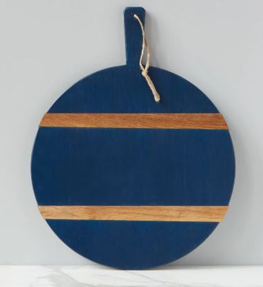 Color Block Round Charcuterie Board - Navy