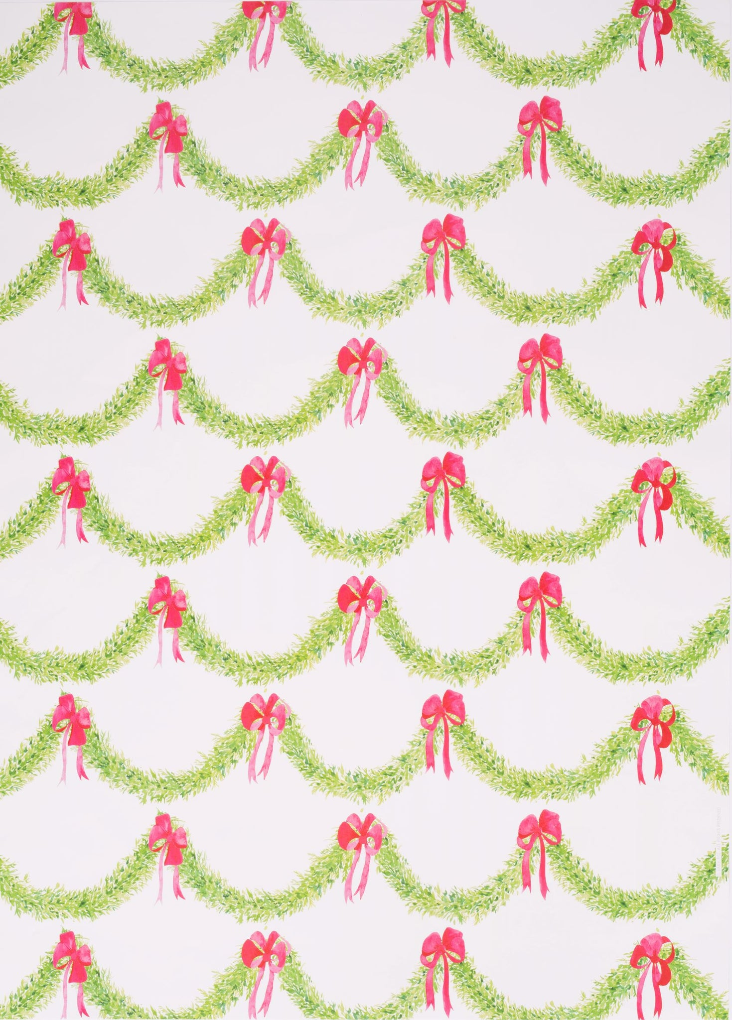 Garland and Bow Gift Wrap