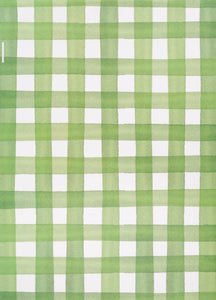 Green Buffalo Check Gift Wrap