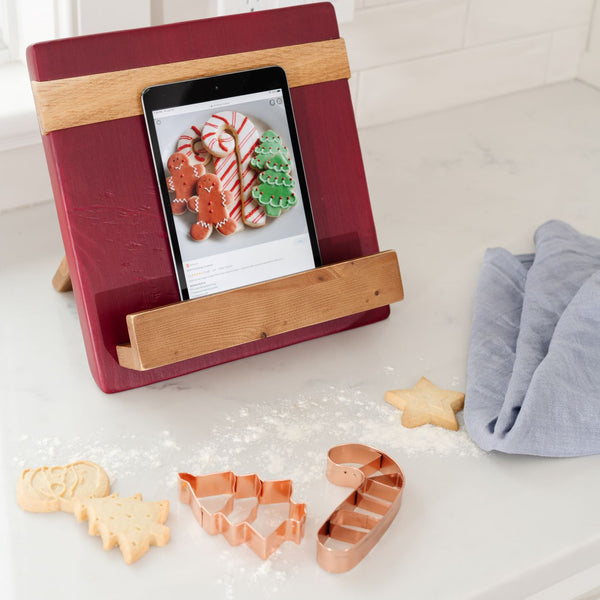 Color Block Cookbook/Tablet Holder - Merlot