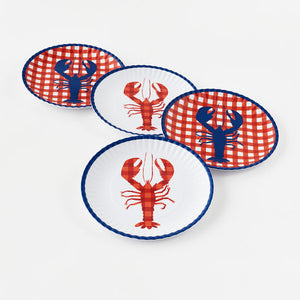 The Stonington Melamine plate set, set of 4