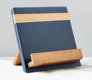 Color Block Cookbook/Tablet Holder - Navy